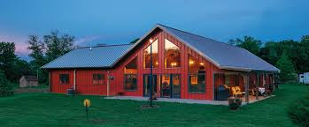 garage large red duplex metal barn homes for best barn home idea