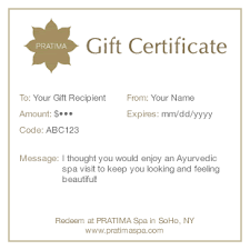 spa gift cards spa gift certificates