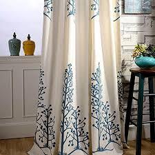 Blackout Drapery Fabric Greenearth 2 Piece Linen Fabrics Embroidery Blackout Curtains