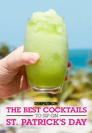 green cocktail green drink recipes st patricks day green cocktails