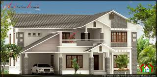 full slope roof house design architecture kerala full slope roof house design