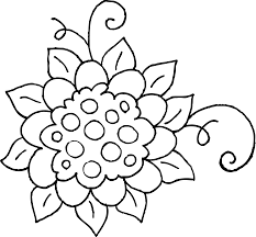 coloring pages of flowers clip art library