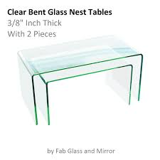 glass coffee table nest clear bent glass nest tables 3 8