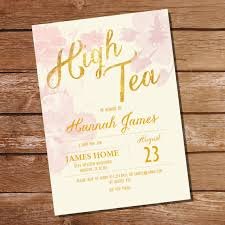 kitchen tea invitation ideas floral watercolor shabby chic high tea by sunshineparties