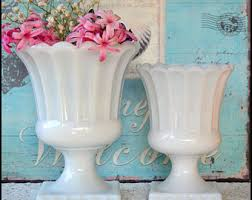 milk glass vase lot of 11 vintage milk glass wedding vases