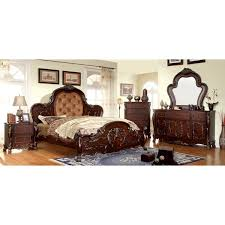 bedroom sets traditional style furniture of america tashir traditional style 4 piece cherry bedroom