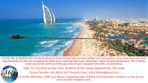 we cordially invite you to the dubai property show on 31st july at