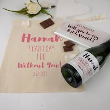 will you be my bridesmaid gifts will you be my bridesmaid gift bag choc and label by tailored