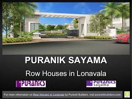 Row House In Lonavala For Sale - row houses in lonavala offering an unparalleled lifestyle