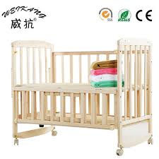 Baby Crib Next To Bed Wood Baby Crib Cot With Trolley And Mosquito Net