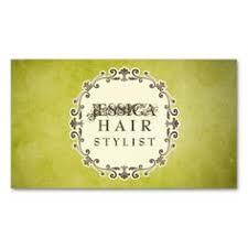 chevron pattern hair stylist appointment cards nomes estilistas