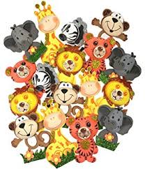 safari cake toppers 28 pack zoo animal cupcake toppers picks jungle