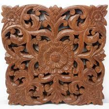 wall decor thailand wood panels nature carvings