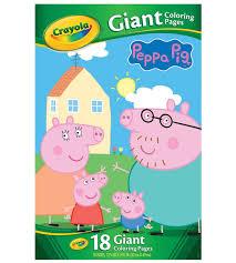 crayola giant colouring pages peppa pig u003e toys australia