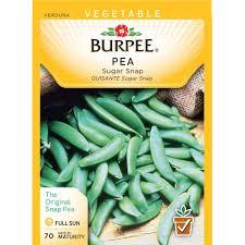 burpee pea snap sugar snap wp seed 59738 the home depot