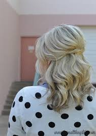 goody u0027s black friday 2013 casual half up hair tutorial polka dots u2013 the small things blog