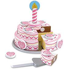 lelin wooden wood childrens kids magnetic cake muffin tea party