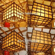 Japanese Ceiling Light Japanese Style Grid Ceiling L Light Bamboo Light