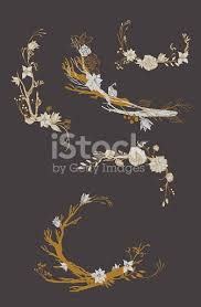 Wallpaper With Flowers Floral Vintage Pattern Retro Design Wallpaper With Flowers Stock