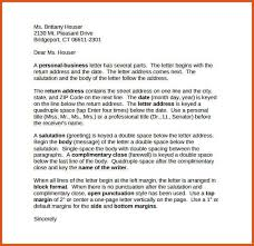 Business Letter Return Address personal business letter general resumes
