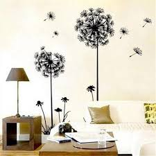 home decor wall art stickers amazon com theme decal dandelion butterfly removable wall