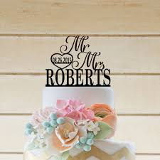 wedding mr mrs cake topper wedding cake toppers personalized