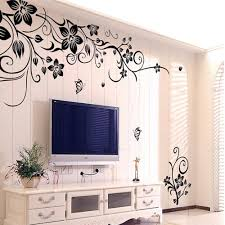 popular vines decal buy cheap vines decal lots from china vines 2017 fashion beautiful diy removable vinyl big wall sticker flowers vine mural decal art stikers for