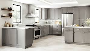 grey stained shaker kitchen cabinets grey kitchen cabinets