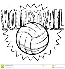 volleyball sketch royalty free stock image image 28471356