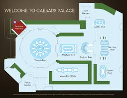 Hotels In Las Vegas Map by Garden Of The Gods Oasis Caesars Palace