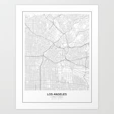 us map states los angeles los angeles united states minimalist map print by resfeber