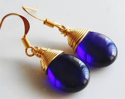 royal blue earrings royal blue earrings etsy