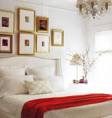 red and white bedrooms white wingback headboard transitional bedroom elle decor