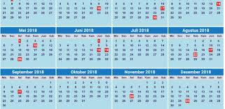 Kalender 2018 Hari Libur Indonesia Inilah Daftar Hari Libur Dan Cuti Bersama Tahun 2018 Fajar