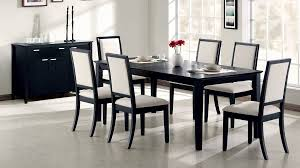 black finish extendable dining table c119201 contemporary