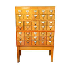 a lovely old library card catalog for sale a vanishing