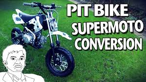 making a motocross bike road legal supermoto pit bike conversion road legal pit bike youtube