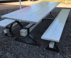 Picnic Table Frame Metal Frame Picnic Table Projects Pinterest Picnic Tables