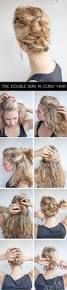 curly hairstyle tutorial the double bun hair romance