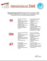 prepositions of time in on and at worksheet free esl printable