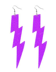 eighties earrings 80s lightning bolt earrings