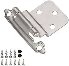 what color hinges on white cabinets 5 pair 10 pack cabinet hinges satin nickel kitchen hardware for kitchen cabinets sch38snb homdiy inset cabinet hinges