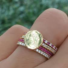 monogramed rings 152 best images about mad about monograms on fashion