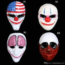 halloween clown mask game payday 2 chains dallas wolf hoxton
