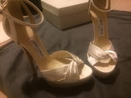 jimmy choo fairy ivory satin platform bridal wedding shoes heels