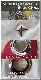 Curtain Grommet Tool Diy Curtain With Grommets That Require No Tools No Sewing