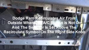 2005 dodge ram a c recirculate blend door how to repair dash