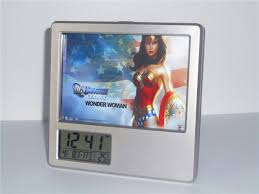 2017 new wonder woman creative digital alarm clock multi function