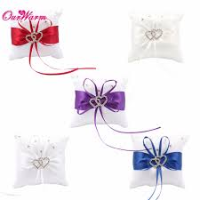 aliexpress com buy weddings ring pillow 10 10 cm romantic double