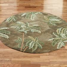 Rattan Rug Palm Trees Area Rugs